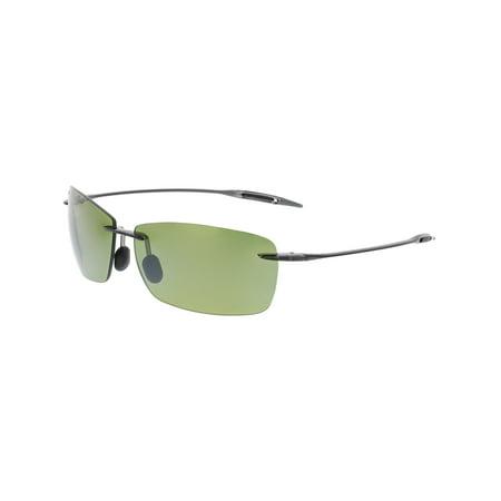 Maui Jim Polarized Lighthouse HT423-11 Grey Rimless Sunglasses ()