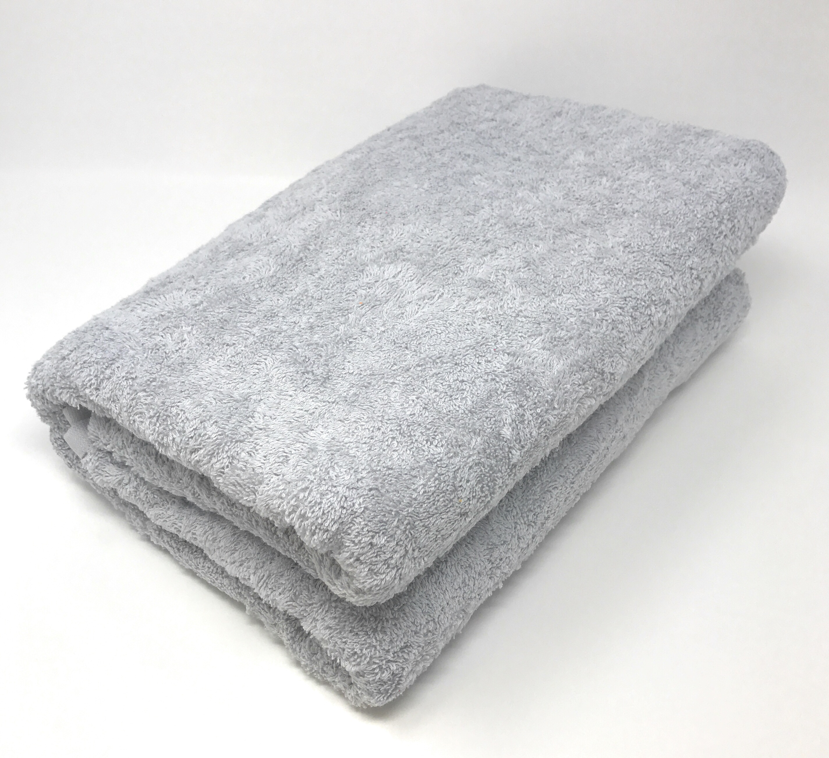 Goza Towels Cotton Oversized Bath Sheet Towel (40 x 70 inches) Silver / Light Grey