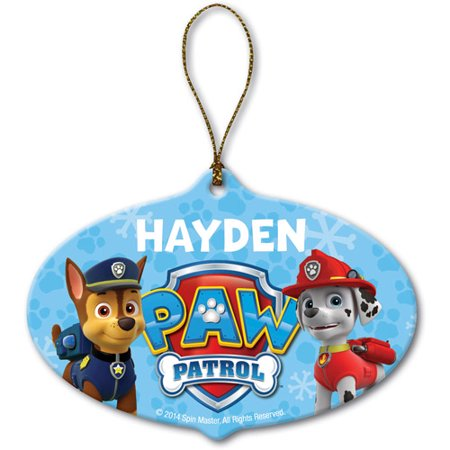 1a81bd307 PAW Patrol Christmas Ornament - Personalized Marshall and Chase Ornament -  Walmart.com