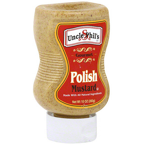 Uncle Phil's Polish Mustard, 10 oz (Pack of 6)