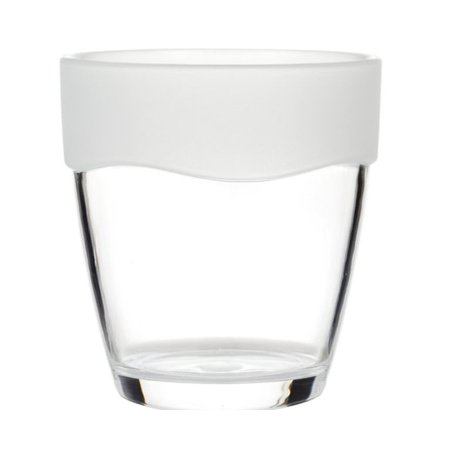 Royal Bath Ribbed Acrylic Tumbler In Clear With Frosted (Forest Ribbed)