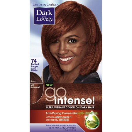 Dark and Lovely Go Intense!  Hair Color, No.74, Radiant Cooper,   1