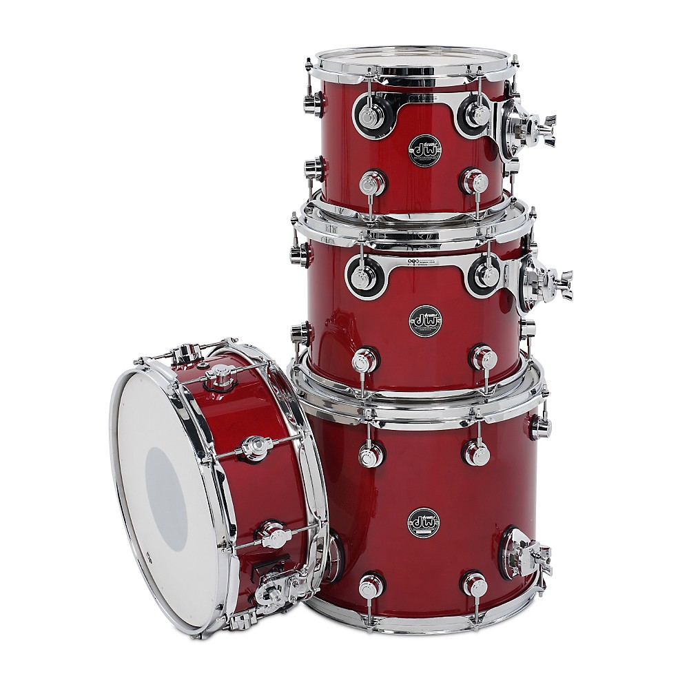 DW Performance Series TomPack 4 Candy Apple Lacquer