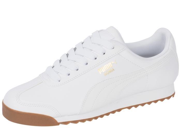 Puma Roma Basic White White Gum Mens