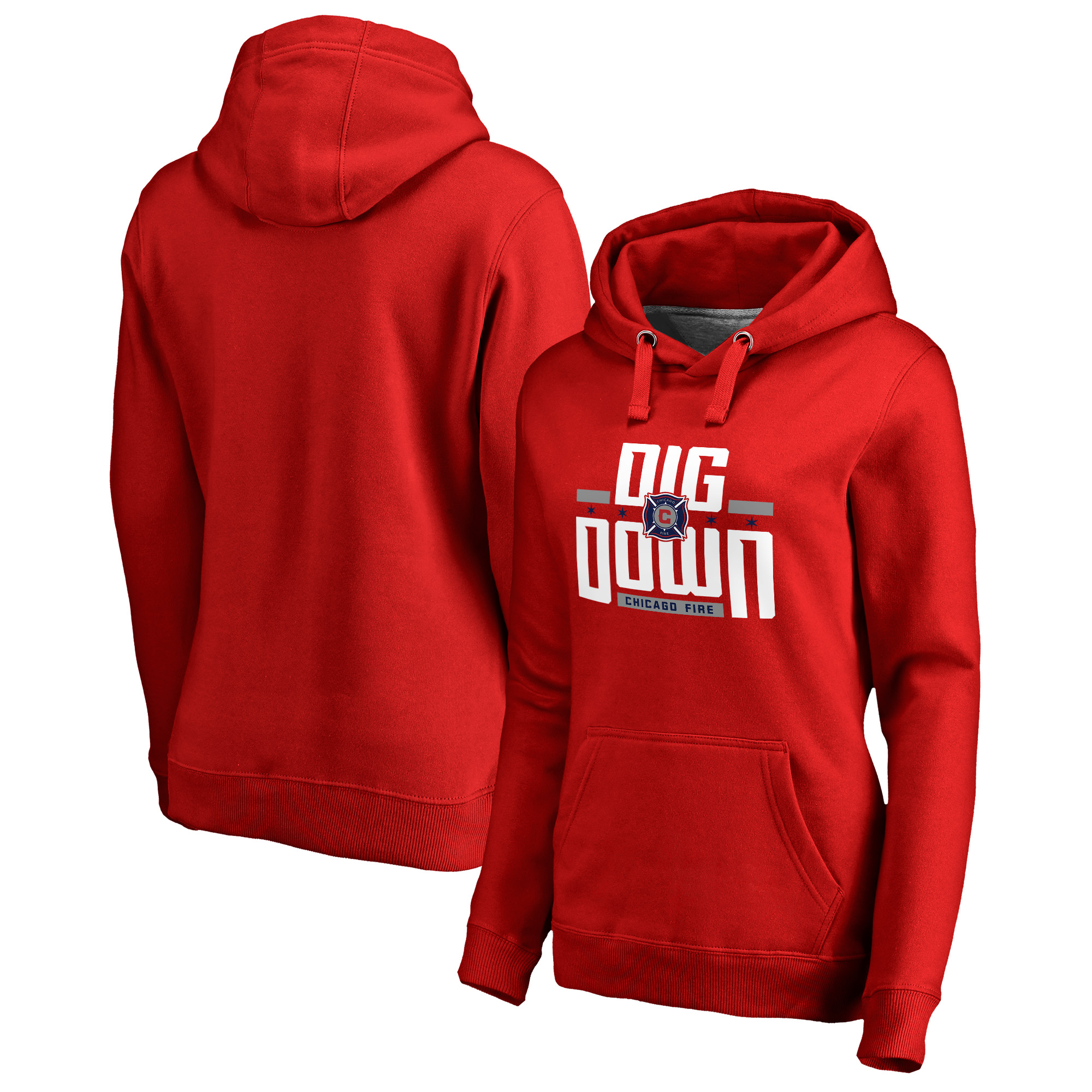 Chicago Fire Fanatics Branded Women's Fire Flag Pullover Hoodie - Red