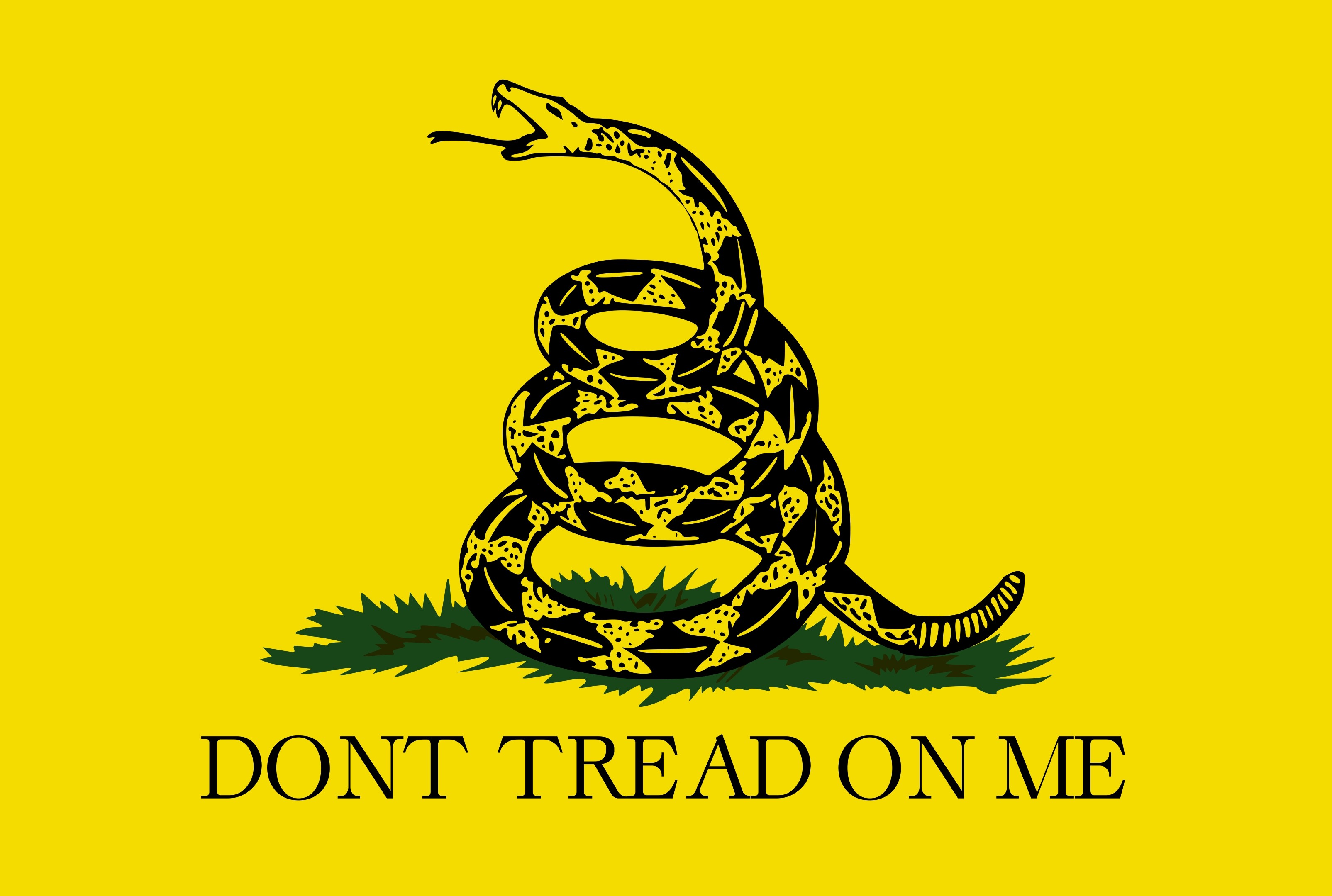 16in x 12in gadsden flag decal bumper sticker vinyl truck window stickers