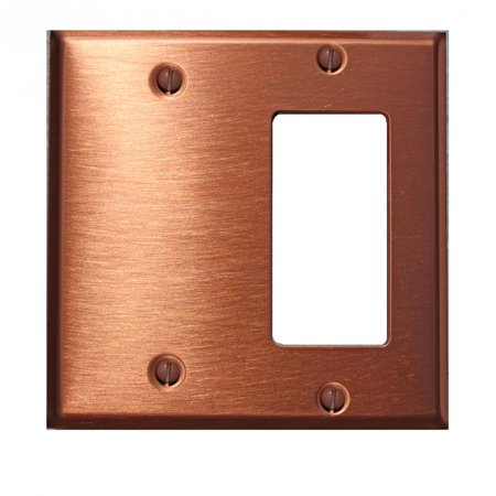 - Switchplate Brushed Solid Copper GFI Blank | Renovators Supply