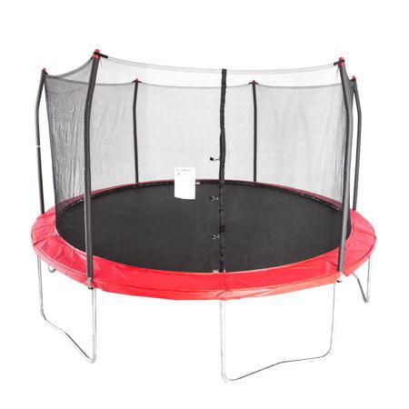 Skywalker Trampolines 15-Foot Trampoline, with Enclosure, Red
