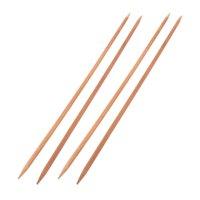 Tailor Bamboo Handicraft Sweater Dress Knitting Braided Needles 5mm Dia 4 Pcs