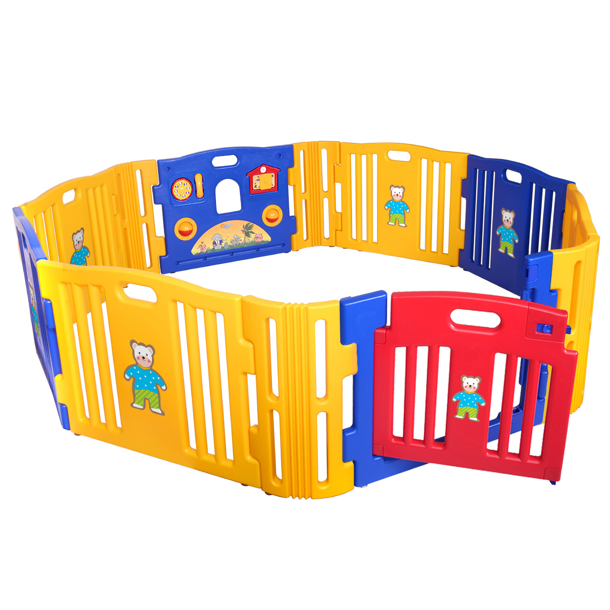 Jaxpety Baby Playpen 12 Panel Foldable High PE Frame Kids Play Center Yard Indoor Outdoor Playards