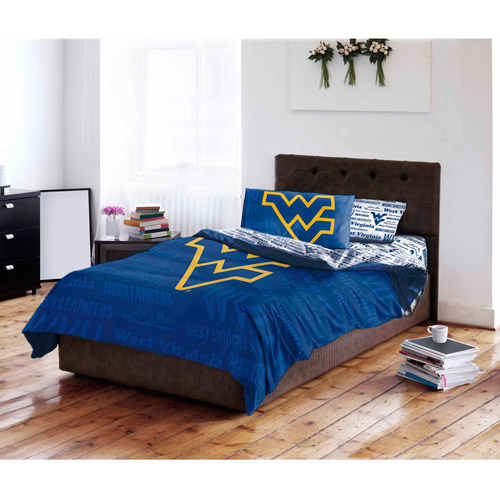 NCAA West Virginia University Mountaineers Bed in a Bag Complete Bedding Set