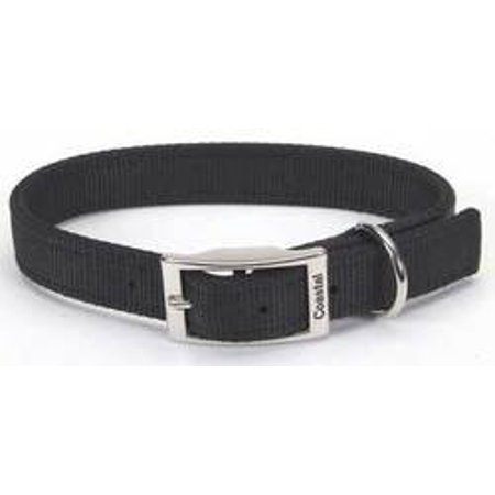 Coastal Pet Products Dcp290120Blk Nylon Double Dog Collar 1 By 20-Inch Black (Pack of 1)