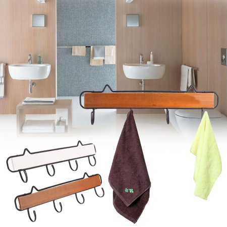 Moaere Wood Wall Hooks Wooden Hook Hanger Decorative Wall Rack Door Single Hooks Coat Hooks