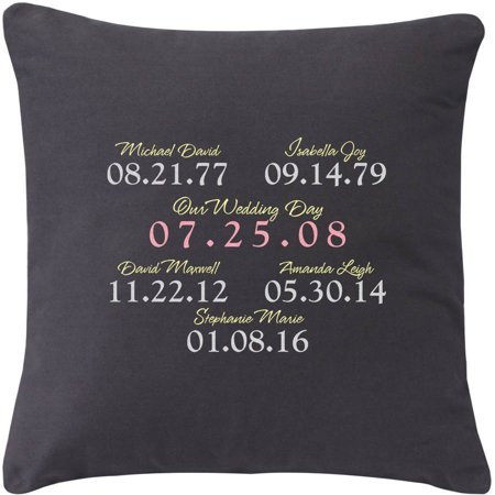 Personalized What a Difference a Day Makes Throw Pillow, Available in 3 Colors](Diy Pillows)