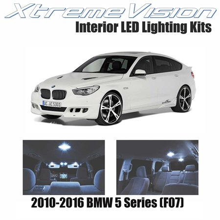 XtremeVision LED for BMW 5 Series (F07) 2010-2016 (18 Pieces) Cool White Premium Interior LED Kit Package + Installation (5 Series Interior Protection)