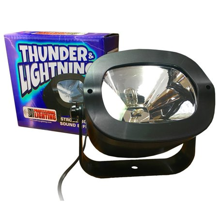 Strobe Light - ThunderStrobe - Simulates Thunder & Lightning - Great for Halloween - Halloween Lightning