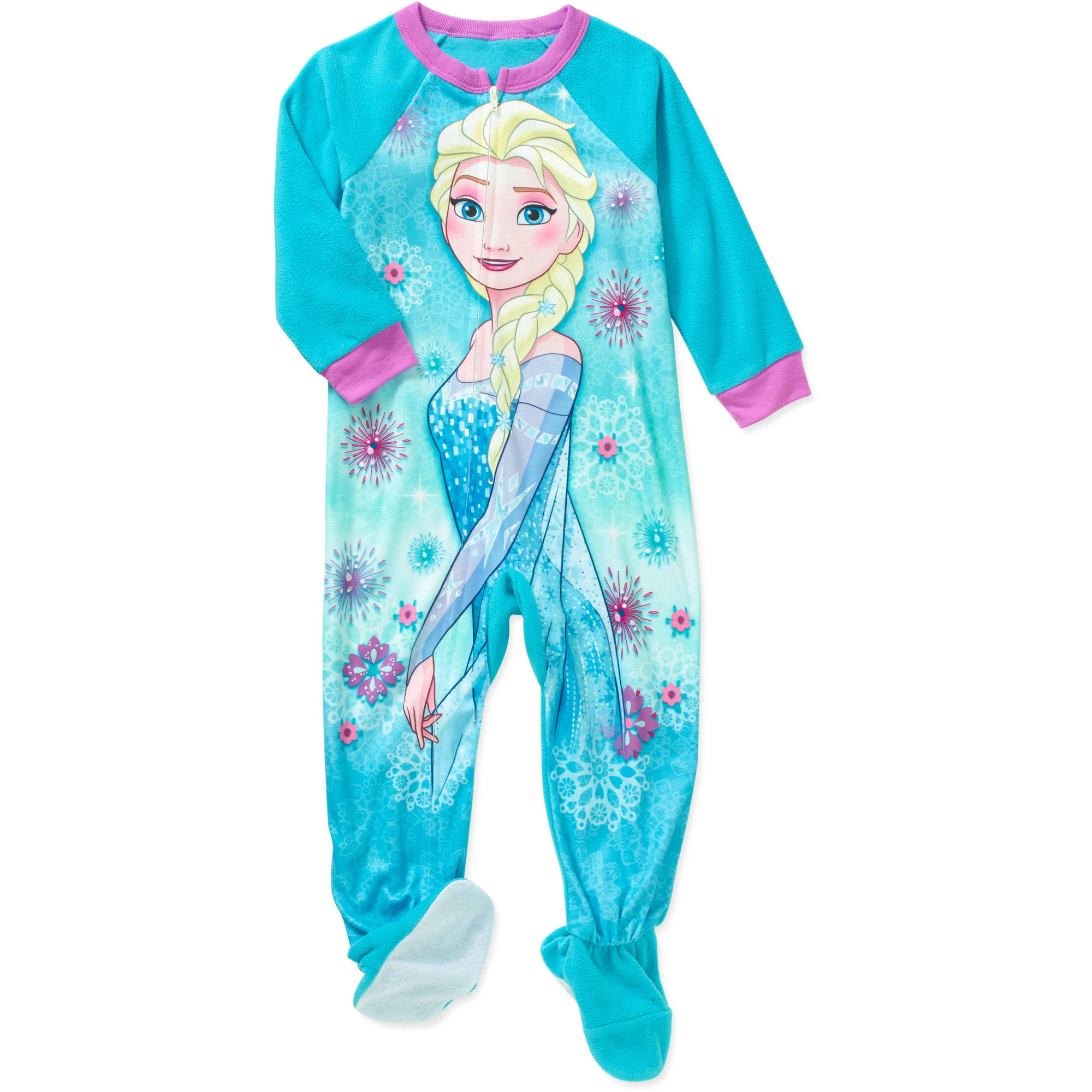 Disney Frozen Toddler Girls' Micro Fleece Footed PJ