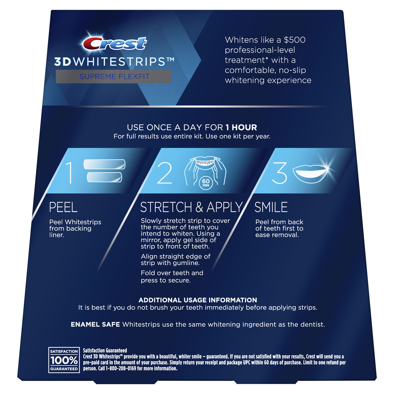 Crest 3d Whitestrips Supreme Flexfit Teeth Whitening Kit 42
