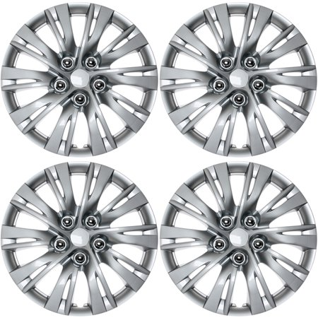 Cover Trend (Set of 4) SILVER / LACQUER Hub Caps FITS 16