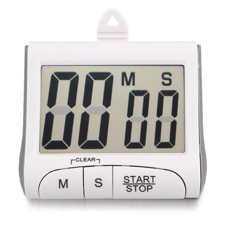 TSV Jumbo LCD Digital Kitchen Cooking Timer Count-Down Up Clock Loud Alarm Magnetic White](New Years Countdown Timer)