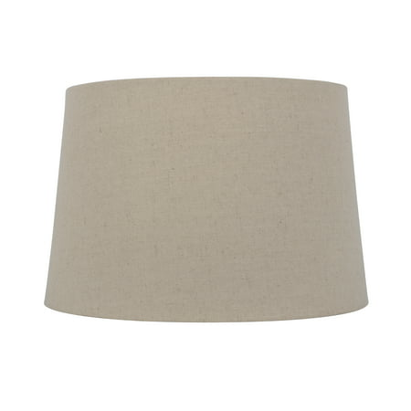 Better Homes and Gardens Tapered Drum Shade - Linen-Look Beige - Large size 15 Inches Wide by 10 Inches Height
