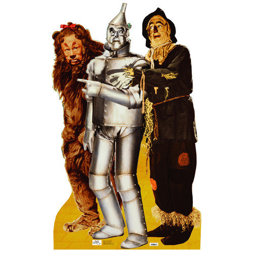 Advanced Graphics ''The Wizard of Oz'' Lion, Tinman, and Scarecrow Cardboard Stand-up