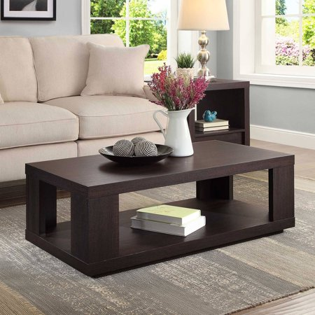 better homes and garden steele coffee table espresso