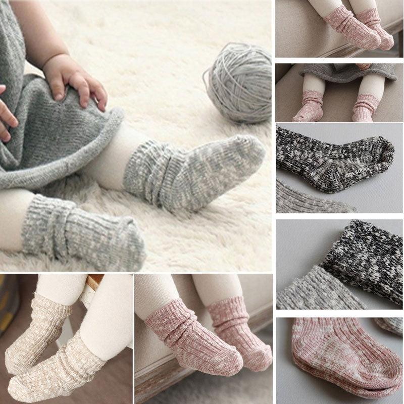 3 Paires Bébé Fille Dentelle Noeud Chaussettes Anti-dérapant Plancher Chaussettes Sweet Infant Sock