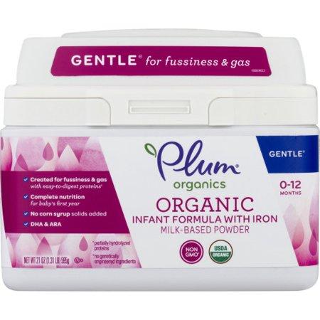 Plum Organics Gentle Infant Formula with Iron, 21 oz