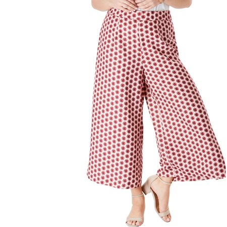 Roaman's Plus Size Wide-leg Culotte Pant With High Side Slits