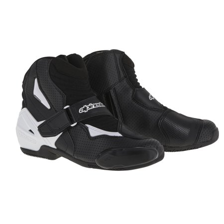 Alpinestars SMX-1 R Vented Mens Street Boots Black/White (Smx Plus Vented Racing Boots)