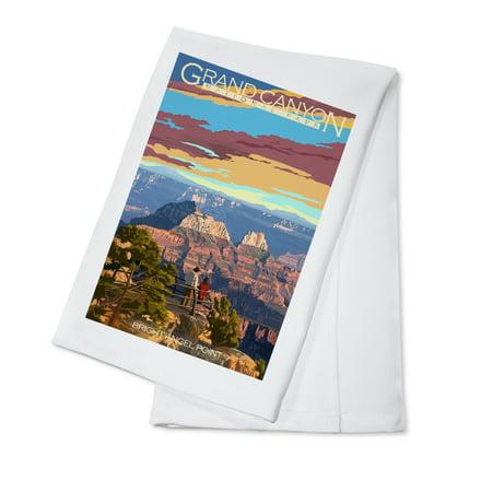 Grand Canyon National Park, Arizona - Bright Angel Point - Lantern Press Artwork (100% Cotton Kitchen Towel)