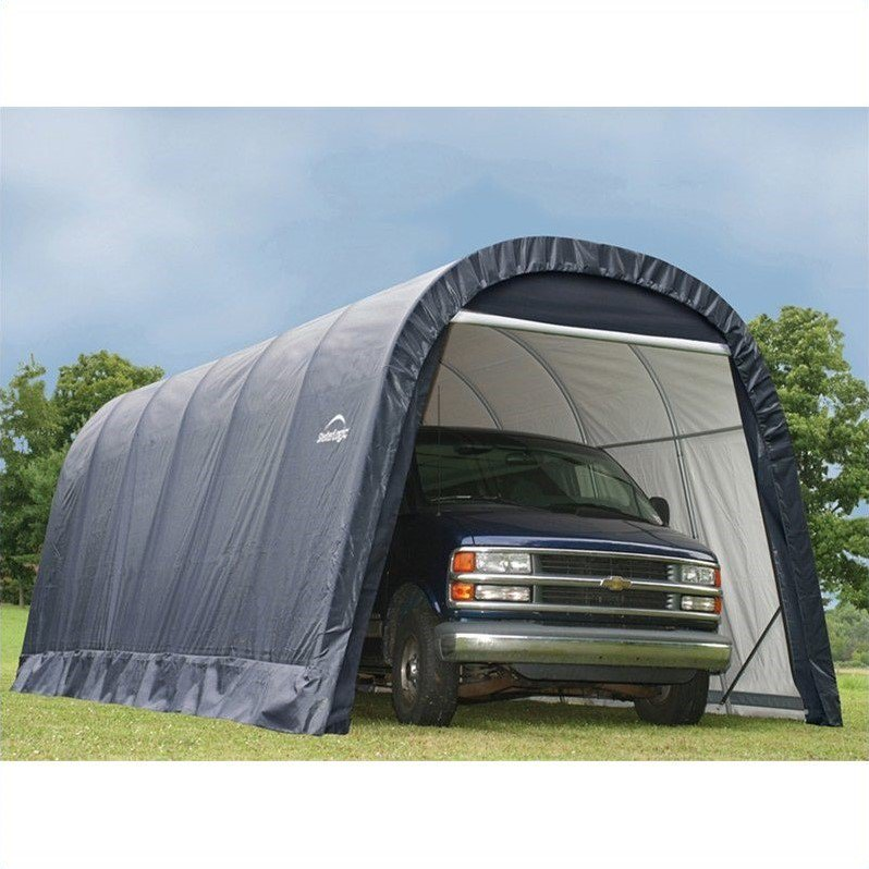 13' x 24' x10' Round Style Shelter, Gray