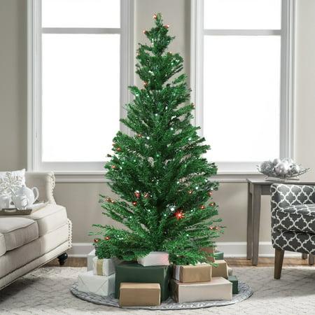 7ft Christmas Tree.Kinbor 7ft Premium Spruce Hinged Artificial Christmas Tree W 280 Led Lights And Stand