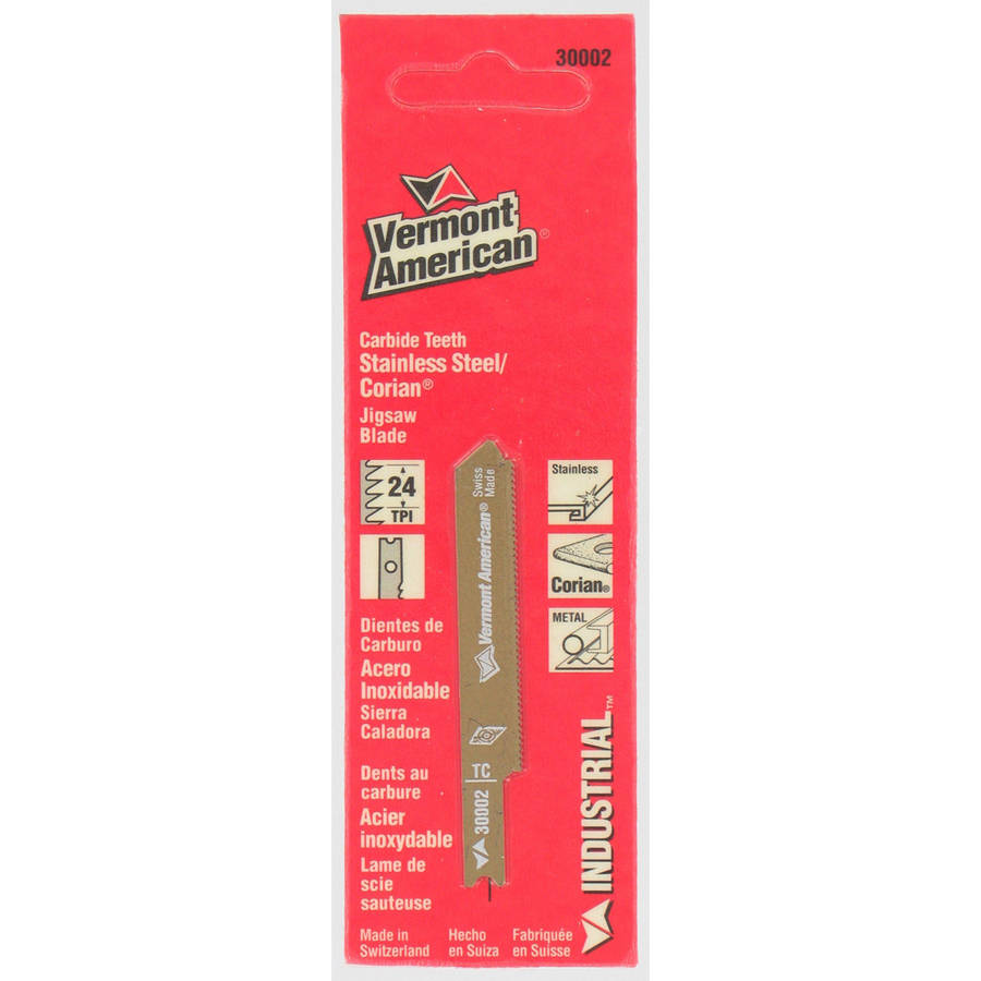 """Vermont American 30002 2�"""" 24 TPI Carbide Tipped U-Shank AP Jig Saw Blades by Vermont American"""