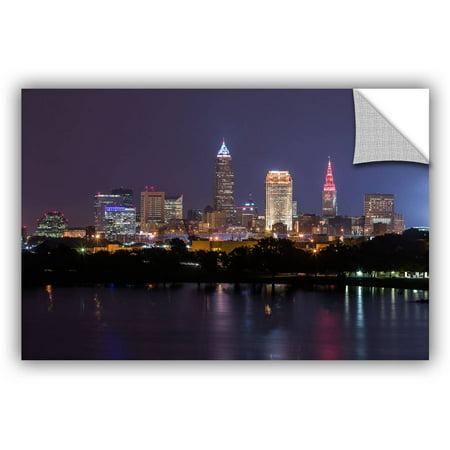 ArtWall Cody York Cleveland Skyline 10 ArtAppealz Removable Wall Art