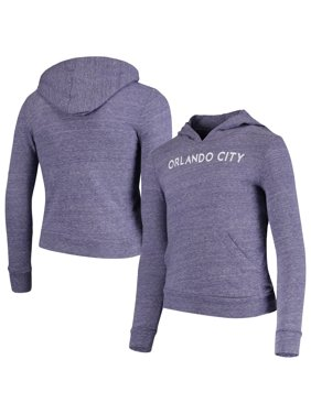 Orlando City SC 5th & Ocean by New Era Girls Youth Tri-Blend Pullover Hoodie - Purple