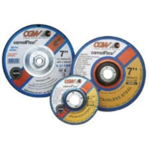 "Camel Grinding Wheels 35656 Depressed Center Grinding Wheel, T27, 9"" X 1/4"" X 7/8"" Arbor, A24n For Metal, 6,600 Rpm"