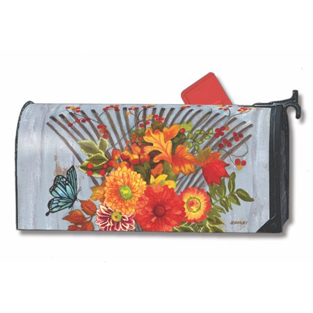 Mailwraps Pineapples (Time to Rake Fall Magnetic Mailbox Cover Floral Autumn Leaves MailWraps )