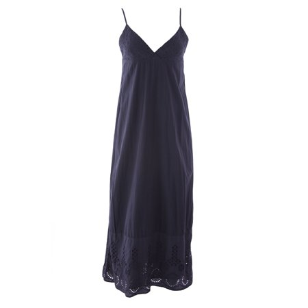 - VELVET by Graham & Spencer Women's Eyelet Trim Maxi Dress Small Shade