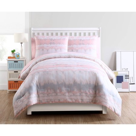VCNY Home Blush Crush Tie Dye Bed-in-a-Bag Comforter Set, Sheet Set (Teen Bed In A Bag Sets)