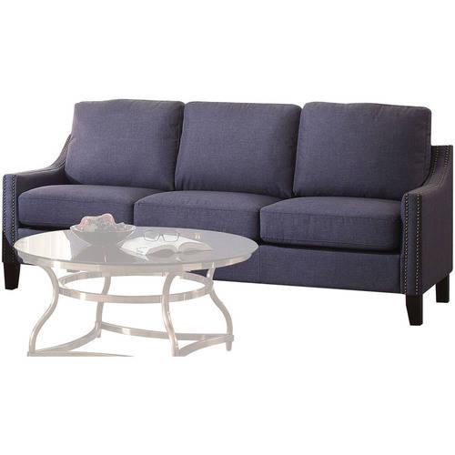 ACME Zapata Nail-head Sofa in Multiple Colored Linen