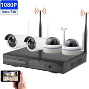Solo 4CH 1080P HD WiFi Wireless 1,200 Feet Security Camera System Pro NVR Surveillance System Kit CCTV Security Camera System for Home IP66 Weatherproof Bullet & Dome Camera Night Vision 2TB