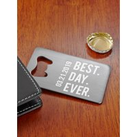Personalized Our Best Day Wallet Bottle Opener