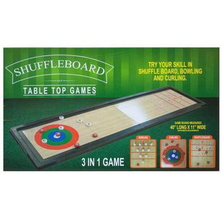 Kole Imports 3 in 1 Shuffleboard Table Top Game