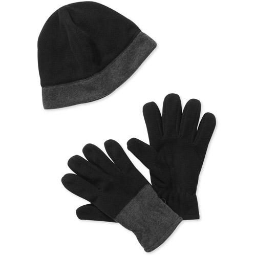 Men's Fleece Hat And Gloves Set