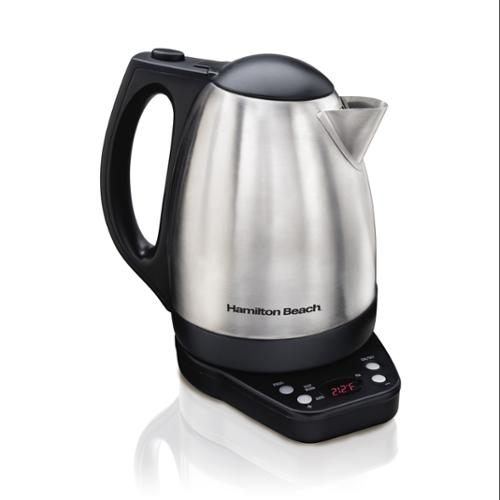 Hamilton Beach 40996 1500W Stainless Digital Programmable Electric Kettle 1.7L