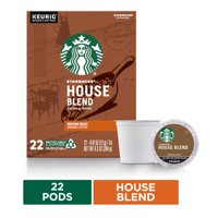Starbucks Medium Roast K-Cup Coffee Pods  House Blend for Keurig Brewers  1 box (22 pods)