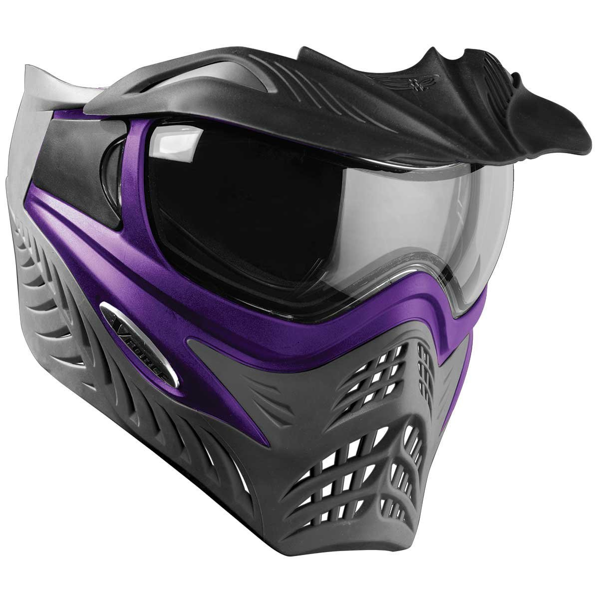 V-FORCE Grill Paintball Mask / Goggle - Purple on Grey