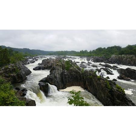 Canvas Print River Virginia Potomac River Great Falls Park Great Stretched Canvas 10 x (Potomac Mills Virginia)
